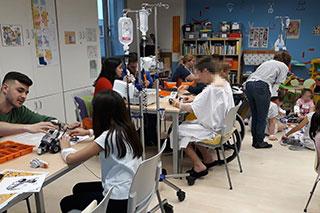 Taller de robótica en el hospital