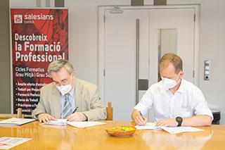 L'escola signa un conveni amb Zoller Ibérica